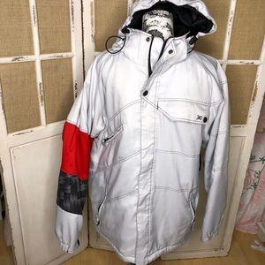 BODY GLOVE SNOWBOARD SKI JACKET Gray Hood Zip M